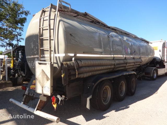 cisterna za gorivo TRAILOR Fuel 40000 liters accident