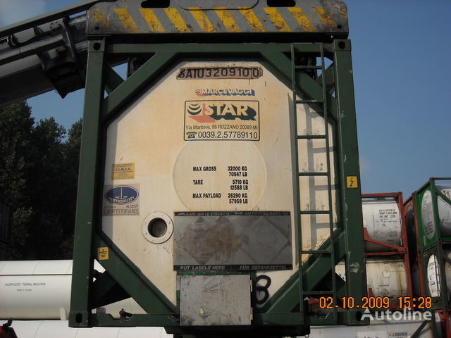 cisterna za kemikalije CPV 30 PIEDI L4BH multiscomparto