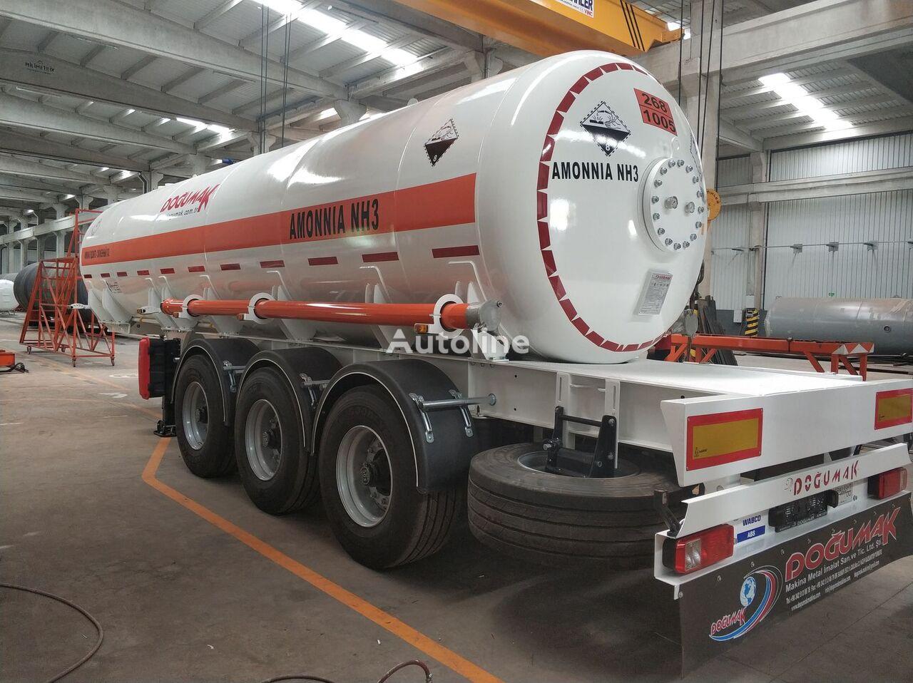 nova cisterna za plin DOĞUMAK AMMONIA SEMI TRAILER