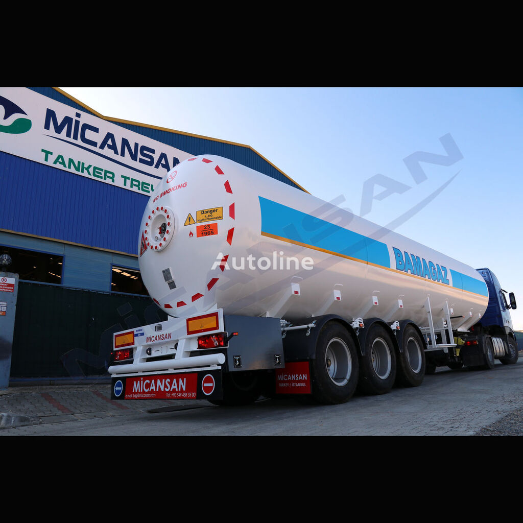 nova cisterna za plin Micansan 2018 57 M3 2+ 1 AXLES CIF LAGOS / COTONEAU 33.500 EURO