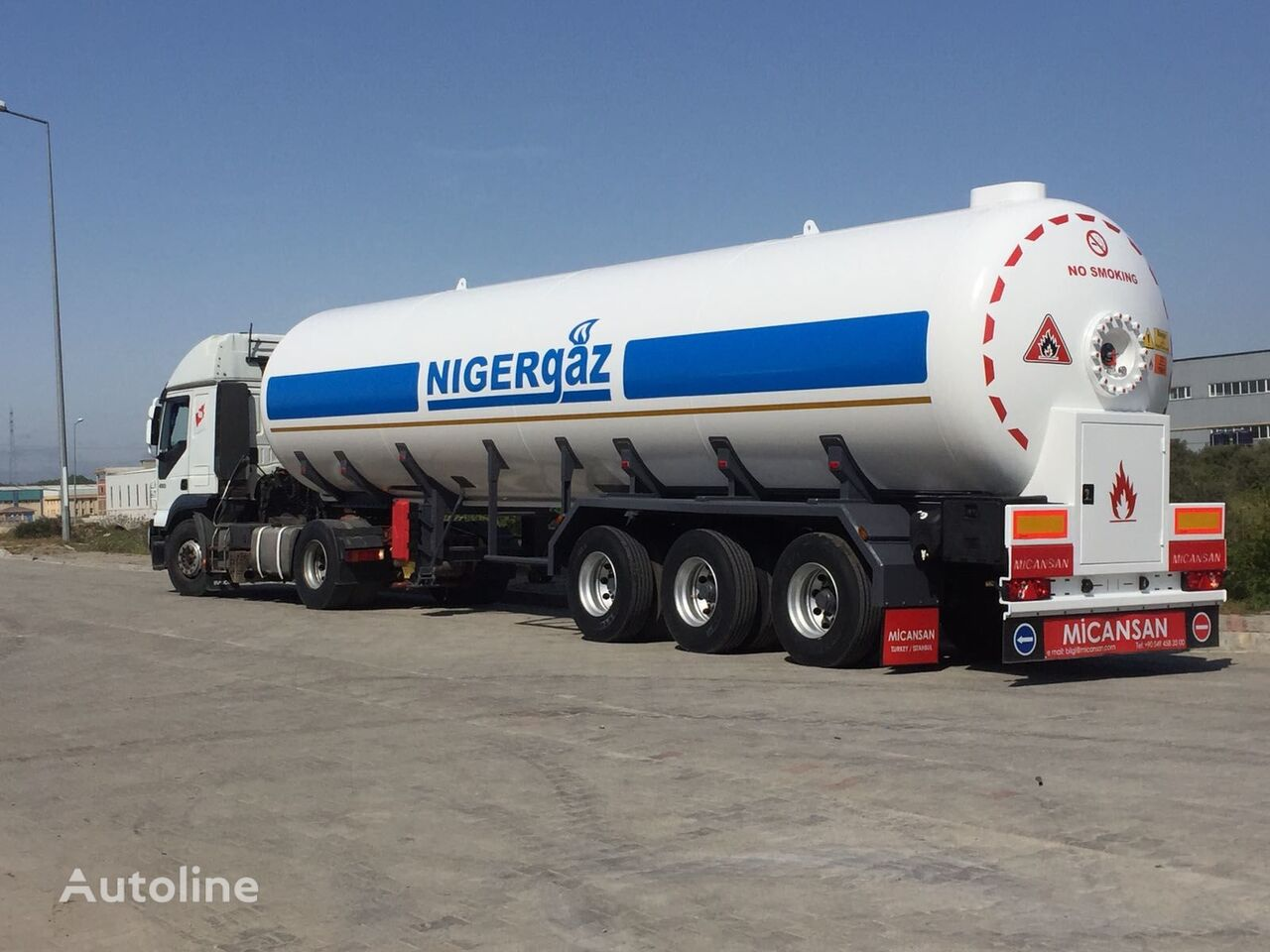 nova cisterna za plin Micansan 2020 57 M3 2+ 1 AXLES CIF LAGOS / COTONEAU 35.500 EURO