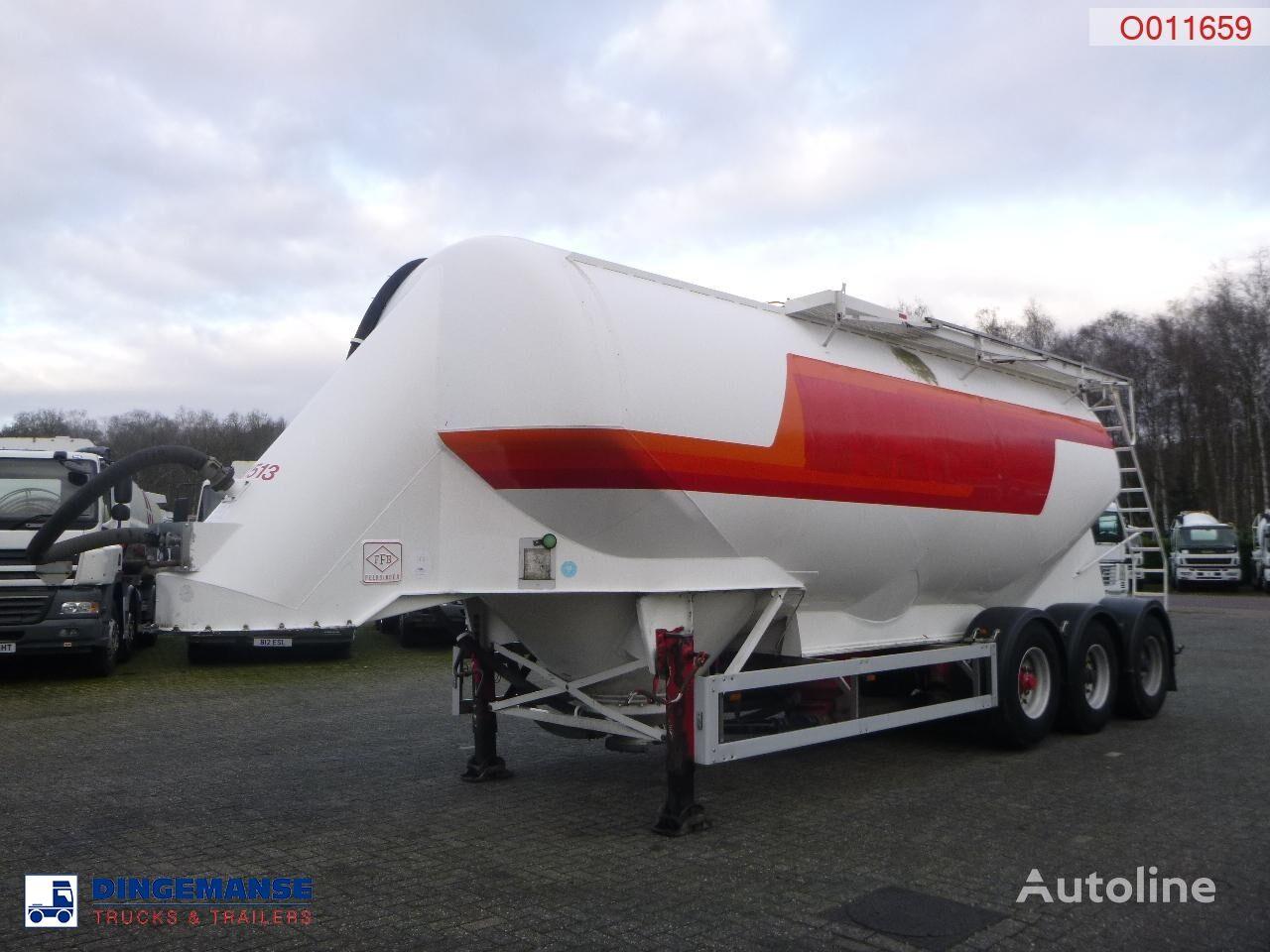 cisterna za prevoz cementa FELDBINDER Powder tank alu 38 m3 / 1 comp