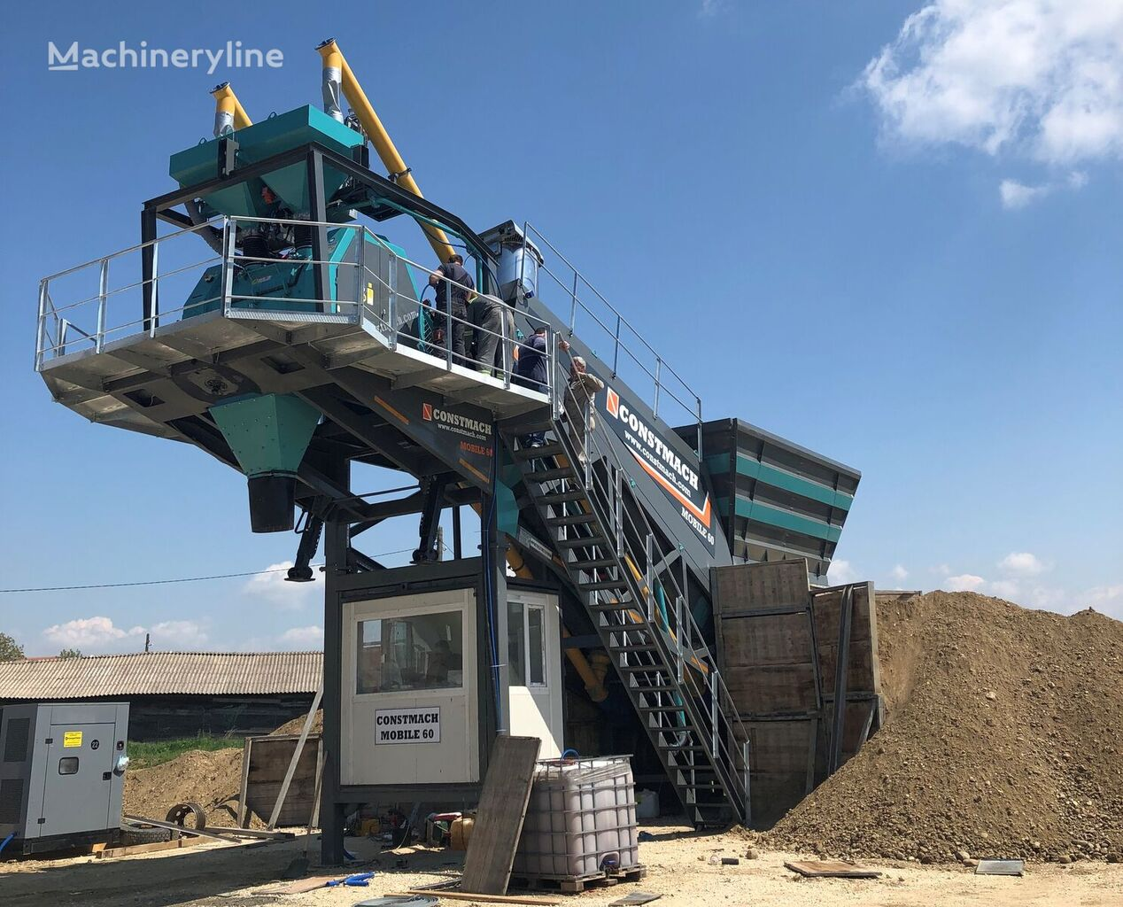 nova betonarna CONSTMACH 60 m3/h MOBILE CONCRETE BATCHING PLANT, READY FOR DELIVERY! CONC