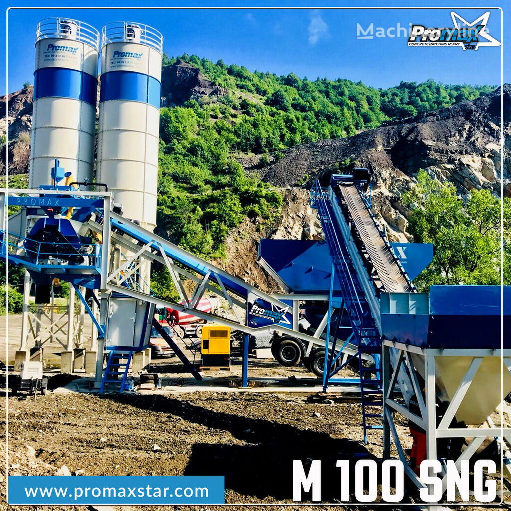 nova betonarna PROMAX MOBILE CONCRETE BATCHING PLANT M100-SNG Single Shaft