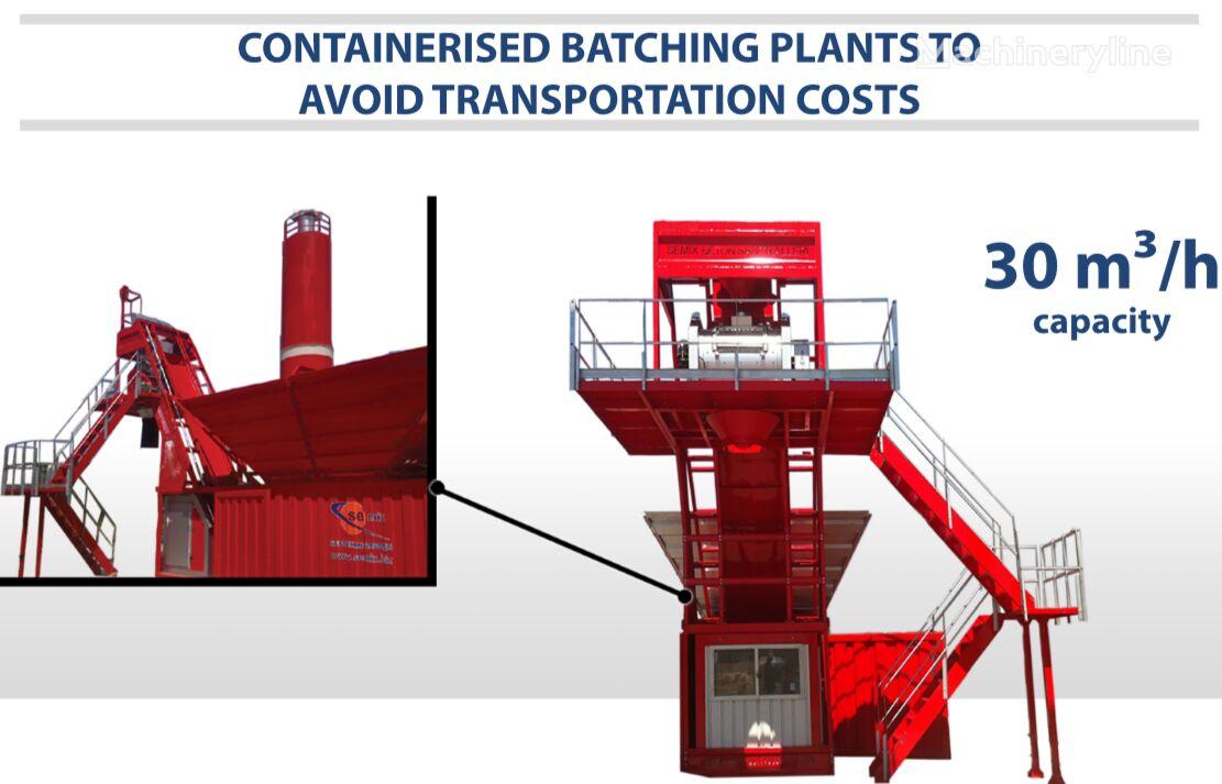 nova betonarna SEMIX SEMIX Compact Concrete Batching Plant 30 m³/h Containerised