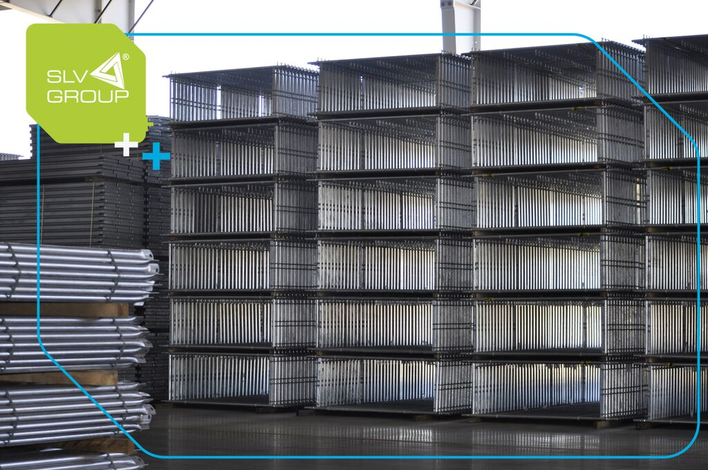 nova gradbeni oder SLV-70 New Plettac Scaffolding 1000m2 Stalowe Fasadowe Rusztowan