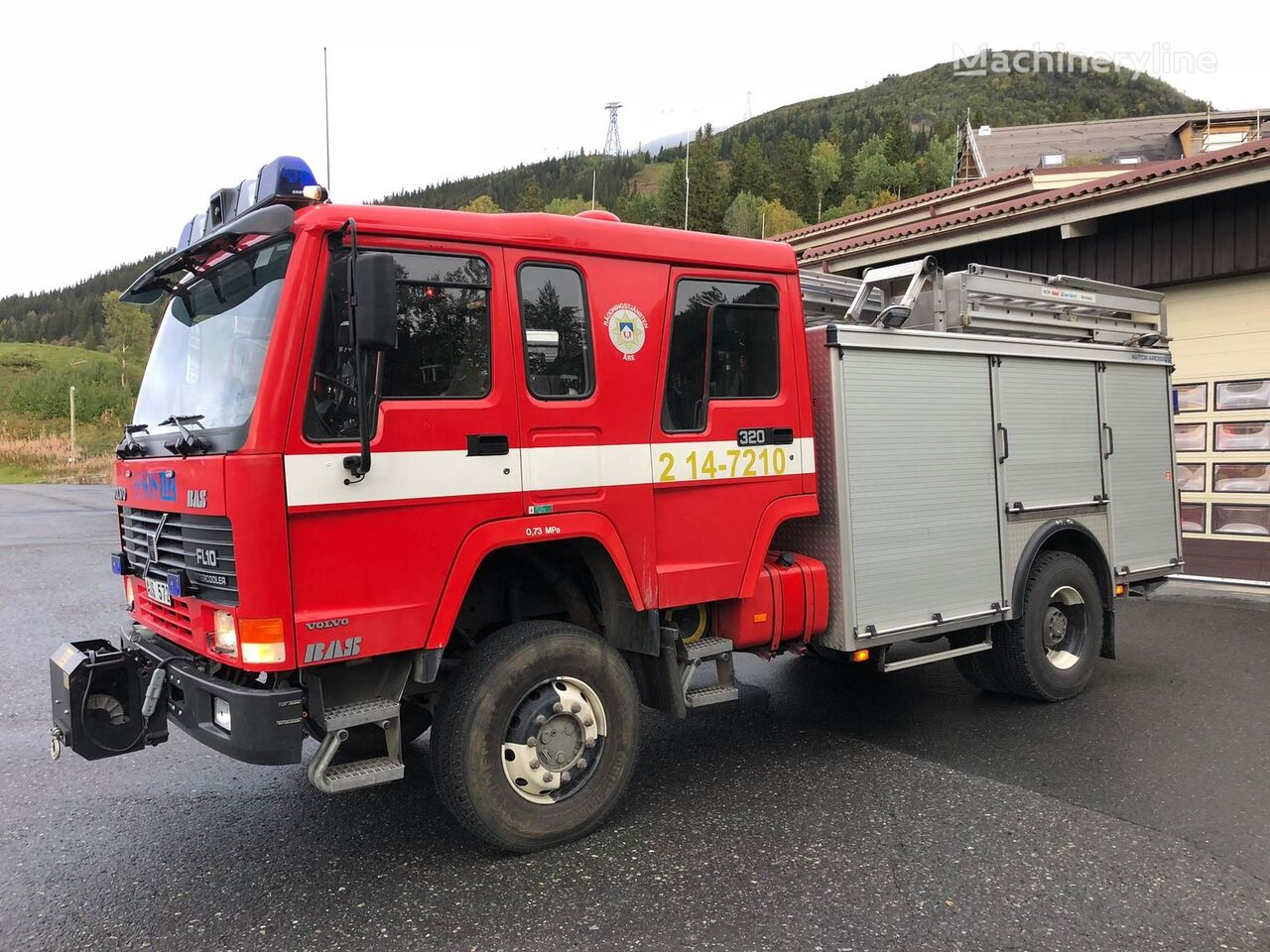 gasilsko vozilo VOLVO FL10 4x4, 1996 - fire engine släckbil autobomba