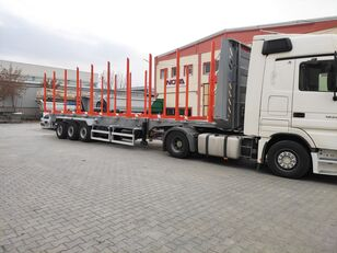 nova polprikolica za prevoz lesa NOVA TIMBER SEMI TRAILER PRODUCTION with SAF AXLE and BUNKS timber