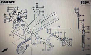 hidravlična črpalka CLAAS podwójna pompa (00 0771 717 0) za kombajn za žito CLAAS Lexion 580 570 600