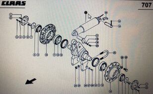 hidravlični cilinder CLAAS (00 0764 275 0) za kombajn za žito CLAAS Lexion 580 570 6