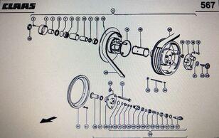 hidravlični motor CLAAS siłownik regulacyjny (00 0084 106 0) za kombajn za žito CLAAS Lexion 580 460-44