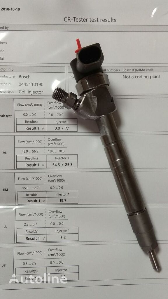 injektor BOSCH za vozilo MERCEDES-BENZ Sprinter