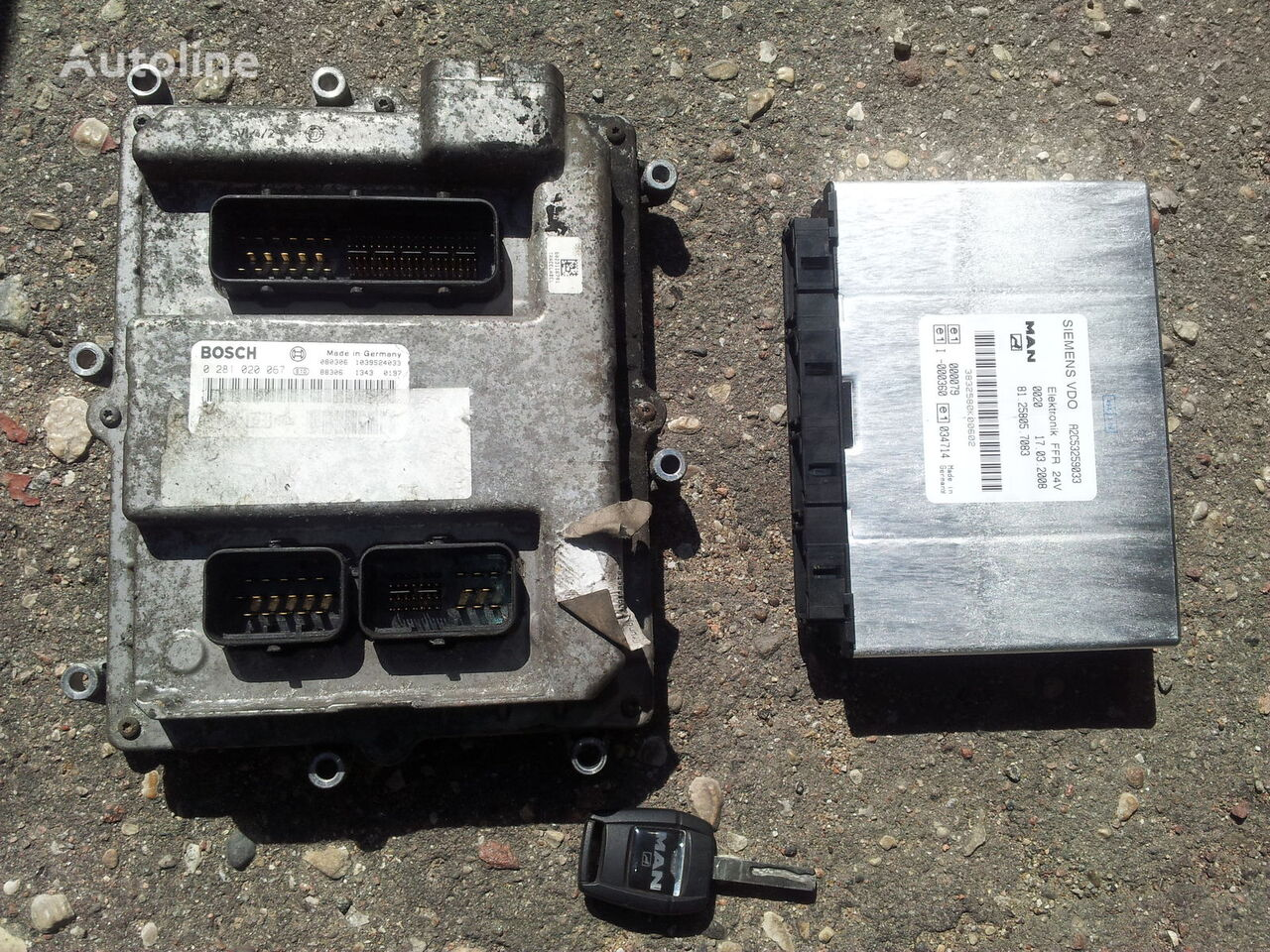 nadzorna enota MAN TGX ignition set >>>>> BOSCH 0281020067 + PTM + chip key, EURO 5 za vlačilec MAN TGA, TGX, TGL, TGM