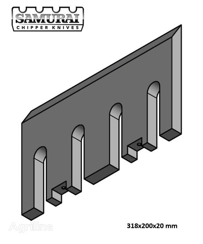 nov nož za drobilec lesa DUTCH DRAGON, Axsel, Dutch Dragon EC 10045, EC 10045, Dutch Dragon EC9045, AX6545L, AX10045