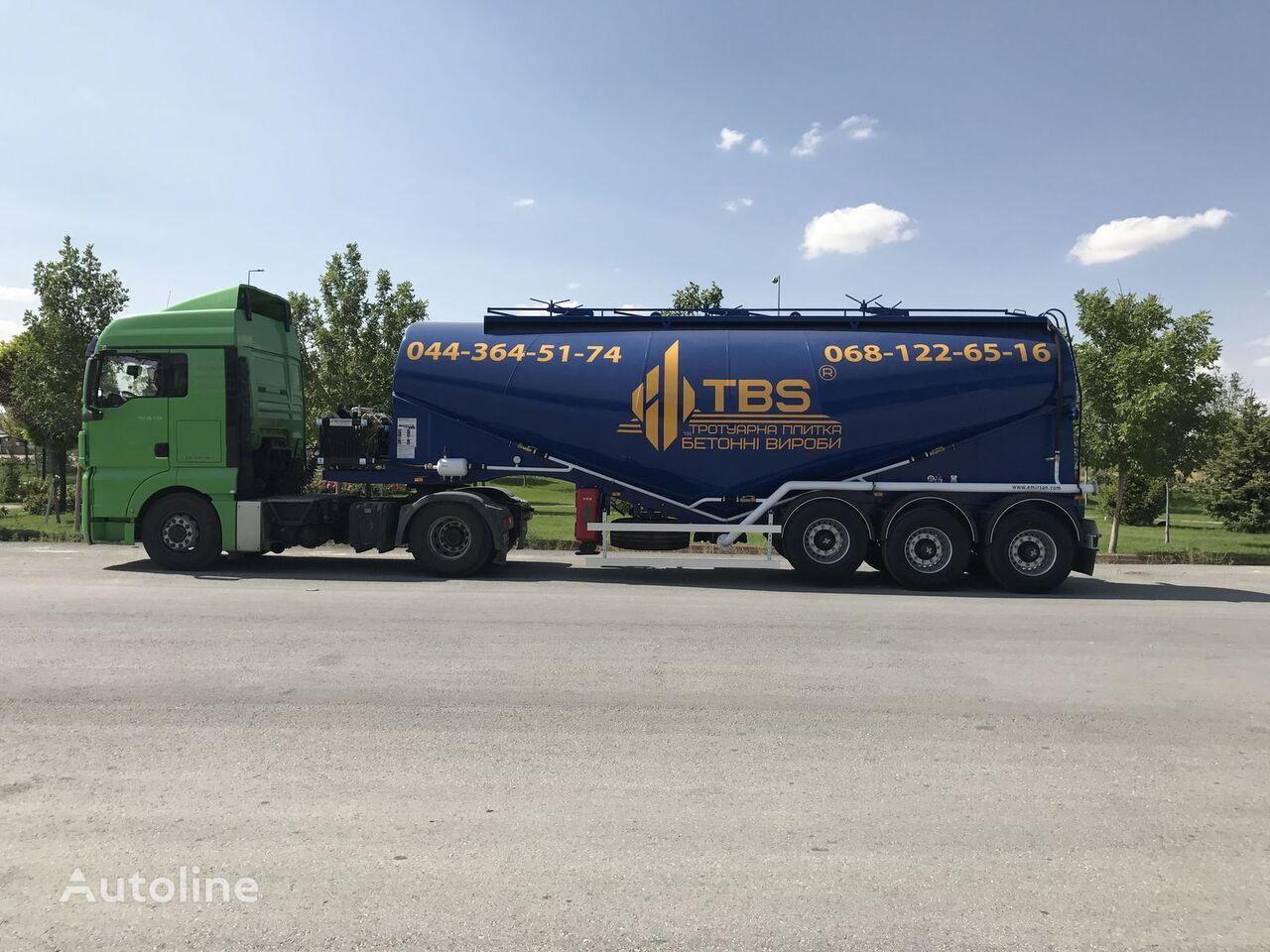 nova silo cisterna EMIRSAN 30 Cbm V Type Cement Bulker Trailer