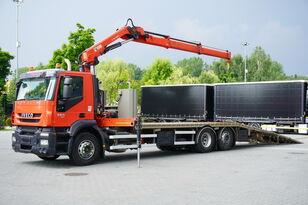 avtovleka IVECO Stralis 360, EEV, 6x2, 7.8m tow truck, lift axle , CRANE HIAB ma