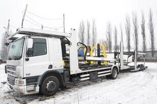 tovornjak avtotransporter DAF CF 75 360 , E5 , 4x2 ,MEGA , LOHR , retarder , sleep cab + prikolica avtotransporter