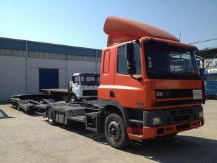 tovornjak avtotransporter DAF CF85.380 ATI EURO2 TRUCK / TRACTOR TRANSPORT + TANDEM + prikolica avtotransporter