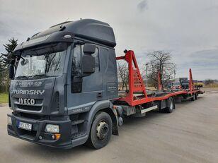 tovornjak avtotransporter IVECO Eurocargo 140E28 + prikolica avtotransporter