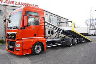 tovornjak avtotransporter MAN TGX 26.440 XXL , E6 , 6X2 , NEW BODY 7,5m , hydraulic , 2x winch