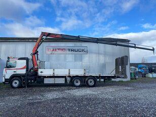 tovornjak avtotransporter VOLVO FM400, 6x2 + CRANE + HYDRAULIC RAMPS