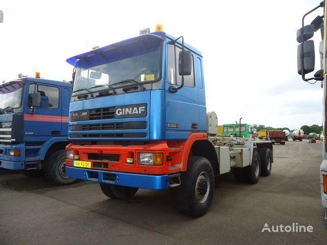 tovornjak kabelski sistem GINAF G3333-S 6x6 Ketting / Chain system
