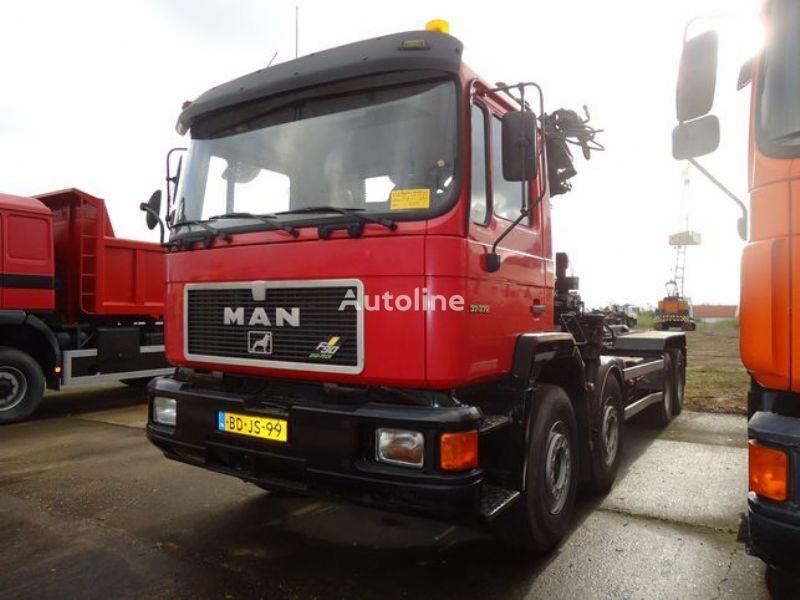 tovornjak kabelski sistem MAN 37.372 8x4 HIAB195