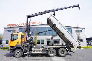 tovornjak prekucnik RENAULT Kerax 380 , E5 , 6x4 , 120k km , 2way tipper , Cran Hiab , REMOT