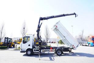 tovornjak prekucnik RENAULT Midlum 220 , E5 , 70.000km , 2-way tipper , Crane HIAB + REMOTE