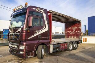 tovornjak s pomične zavese MAN TGX 26.480 XXL 6X2-4 ( gestuurd/Dir./steering/gelenkt)