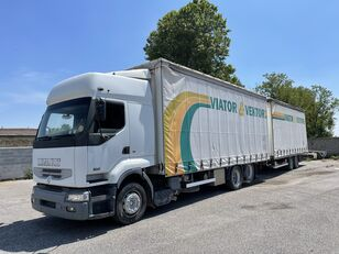 tovornjak s pomične zavese RENAULT Premium 420 + prikolica s pomičnim zavese