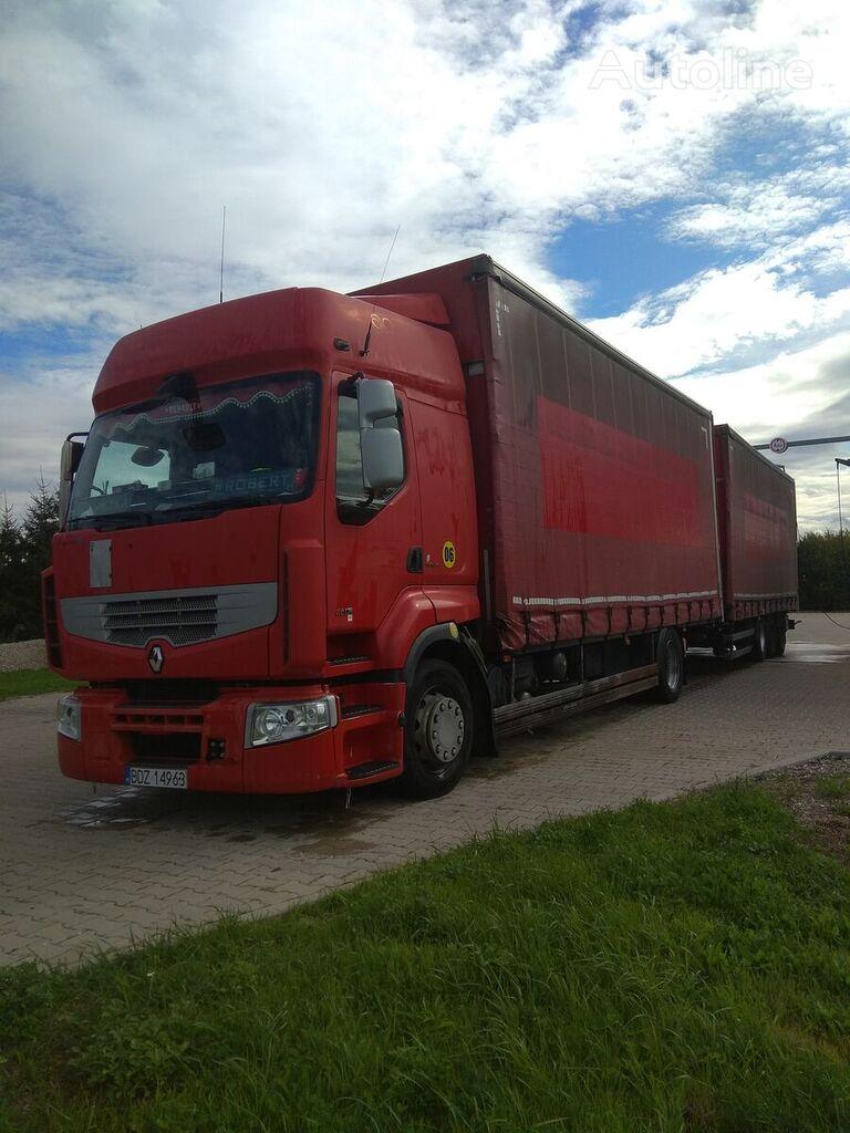 tovornjak s pomične zavese RENAULT PREMIUM 460 DXI + prikolica s pomičnim zavese