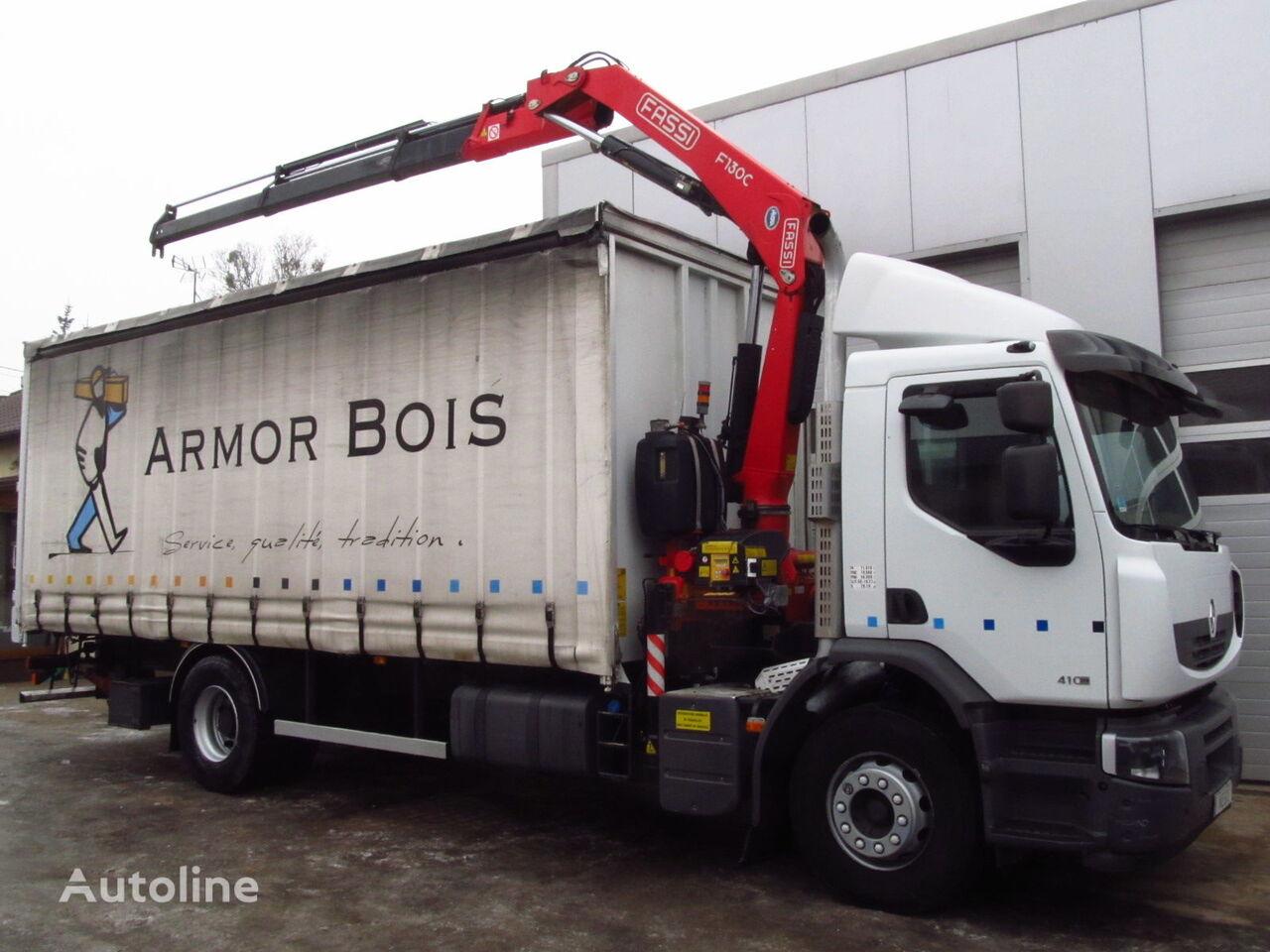 tovornjak s pomične zavese RENAULT PREMIUM LANDER 410DXI FASSI F130 NEW
