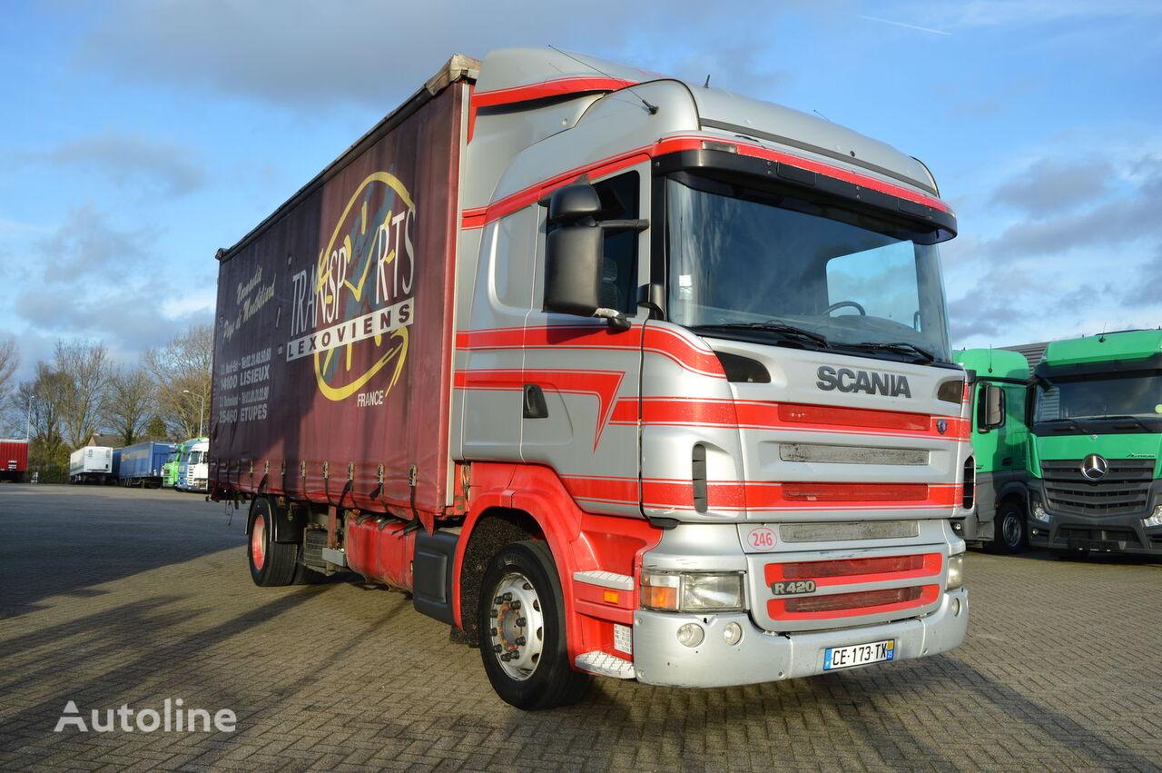 tovornjak s pomične zavese SCANIA R420 * Manual * Retarder * 4X2