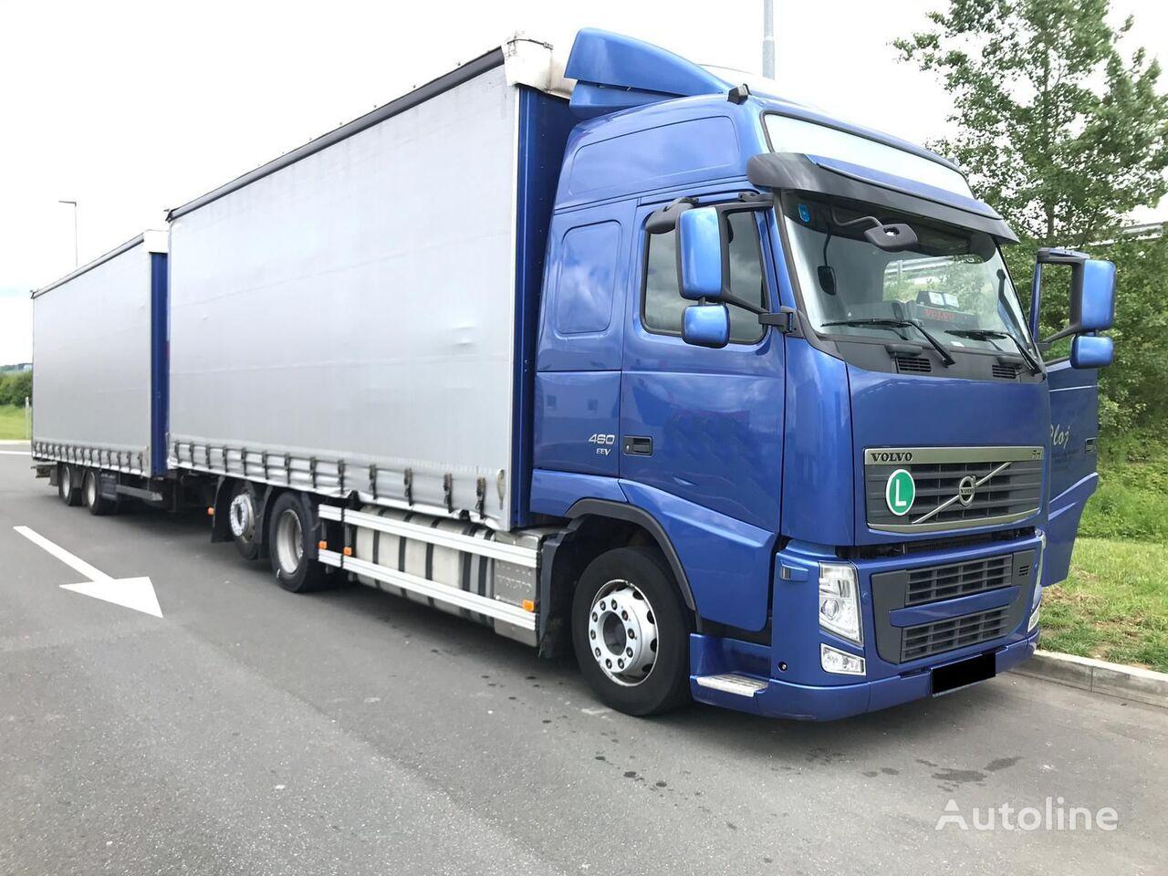 tovornjak s pomične zavese VOLVO FH 13.480 + prikolica s pomičnim zavese