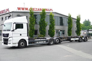 tovornjak šasija MAN TGX 26.480 XLX , E6 , BDF SET + Krone Trailer BDF + prikolica šasija