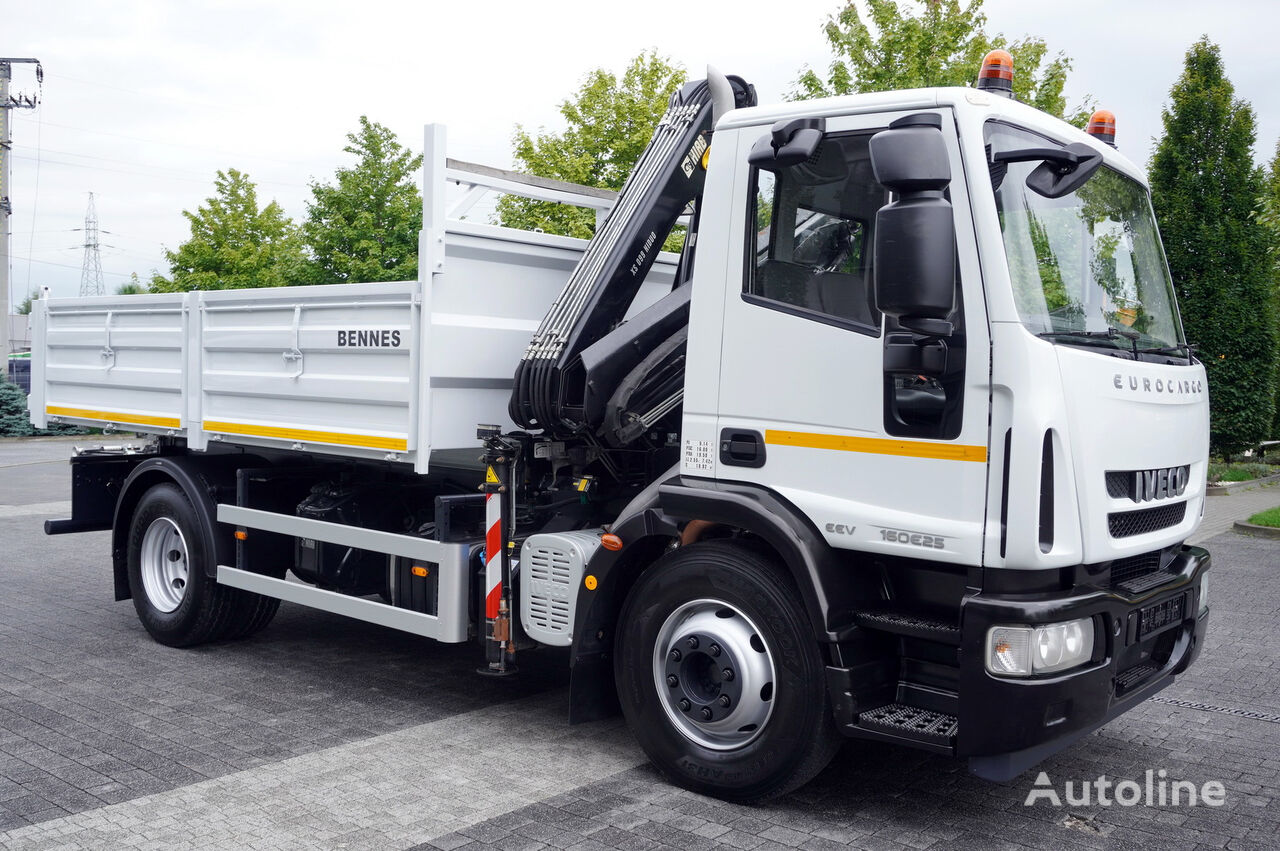tovornjak tovorna ploščad IVECO Eurocargo 160E25 , EEV , 4X2 , tipper + Crane , Remote Control