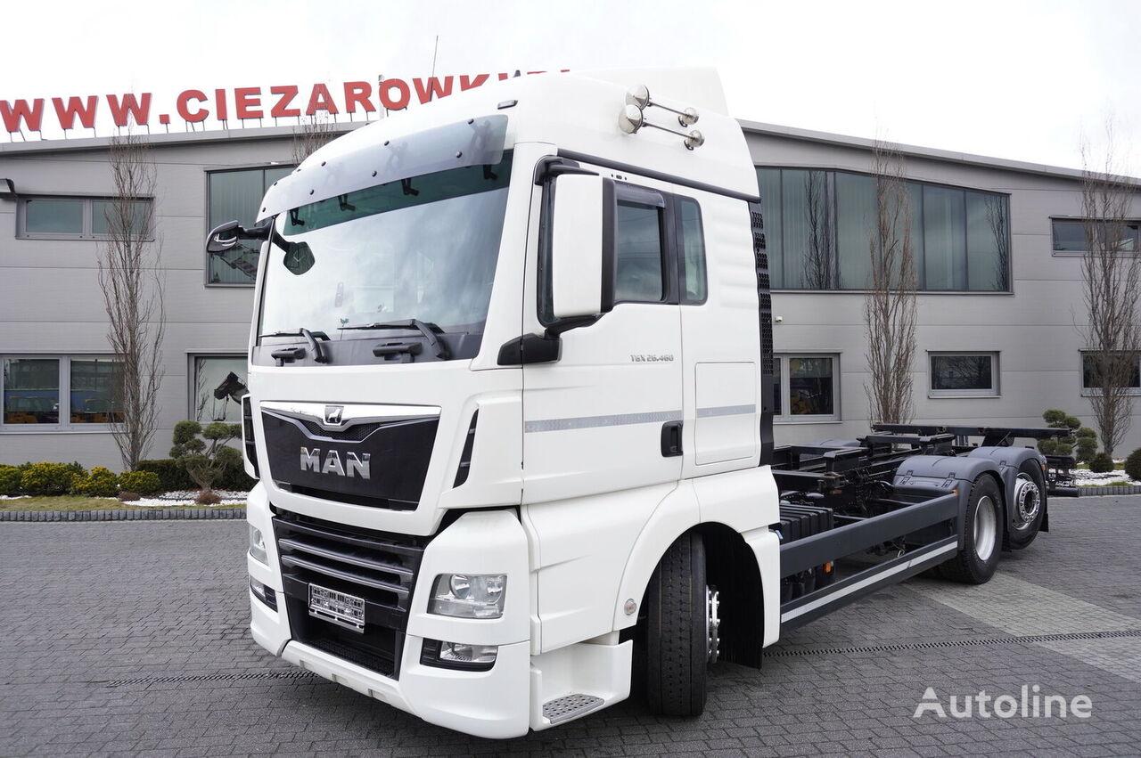 tovornjak za prevoz kontejnerjev MAN TGX 26.460 XLX , E6 , 6x2 , steer/lift axle , BDF , chassis 7,2m