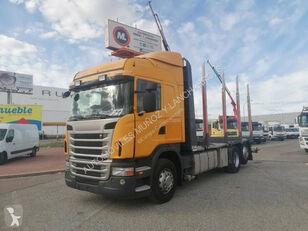 tovornjak za prevoz lesa SCANIA 420