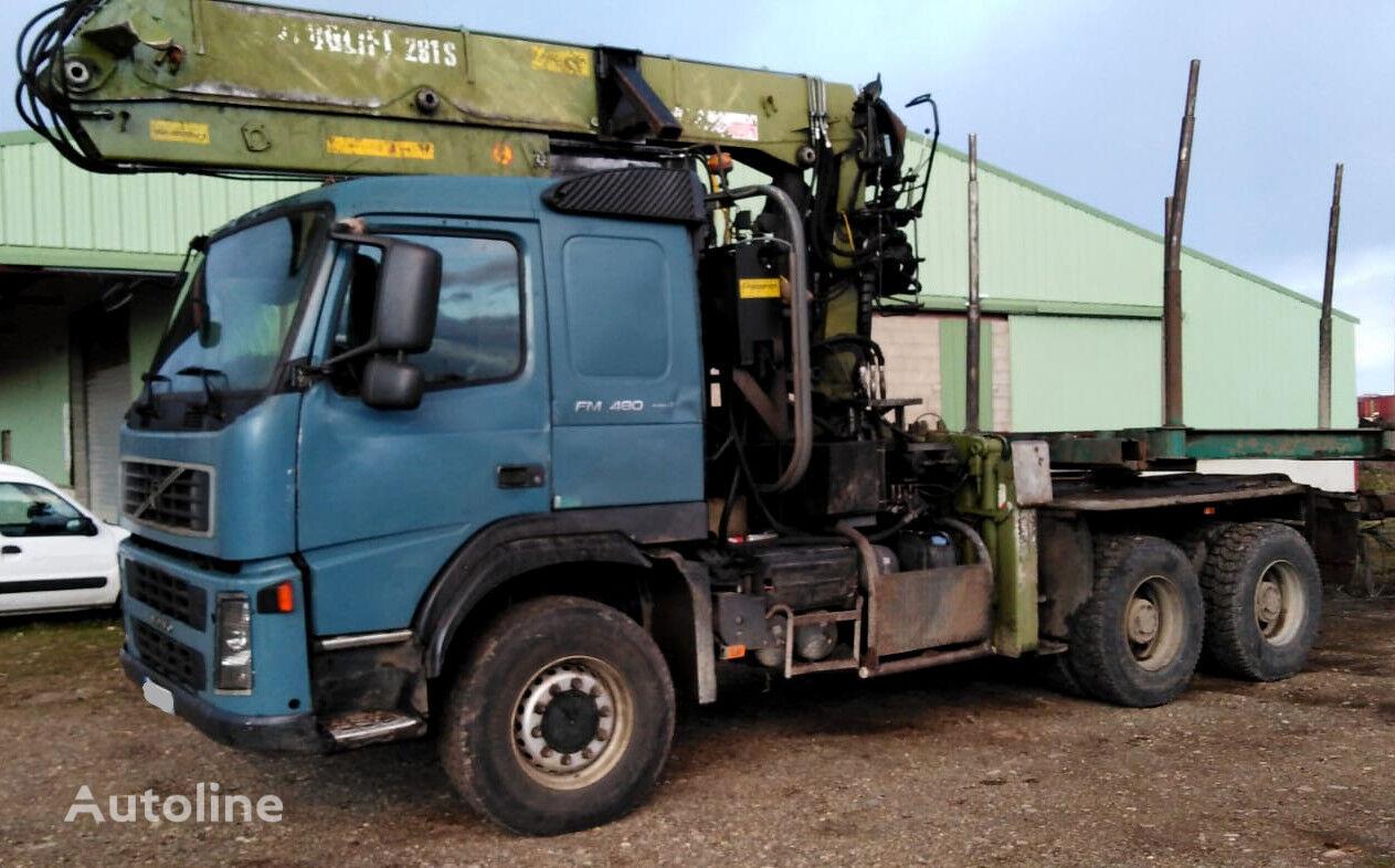 tovornjak za prevoz lesa VOLVO FM 480 6x6 for wood transport