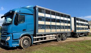 tovornjak za prevoz živine MERCEDES-BENZ Actros 2548 for pigs transport + prikolica za prevoz živine