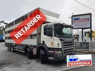 tovornjak za prevoz živine SCANIA P 420cv 8x2 trans. De gado 2012 retarder