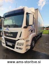 tovornjak zabojnik MAN TGS 18.400 4X2 kOFER mit Rampe