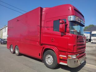 tovornjak zabojnik SCANIA 144 G  460  V8   6x2  ///MANUEL//RETARDER///FRENCH TRUCK///