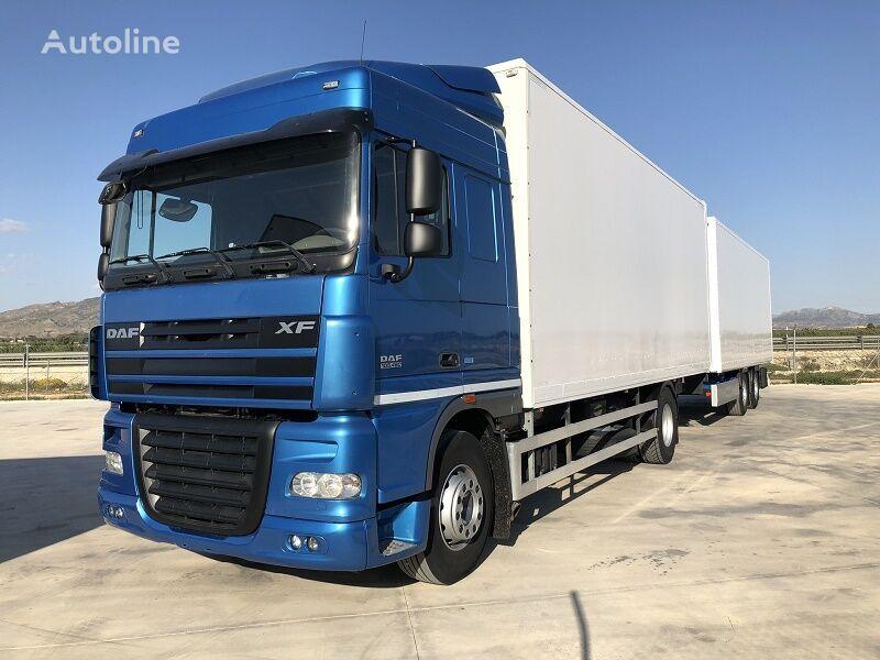 tovornjak zabojnik DAF XF 105.460 Y REMOLQUE KRONE + prikolica zabojnik