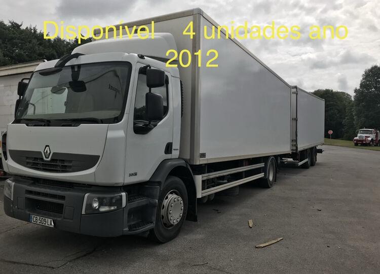 tovornjak zabojnik RENAULT Premium 380 + prikolica zabojnik